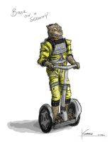 Bossk on a Segway by thesometimers