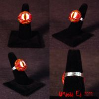 Rot Ring Demon Dragon Eye ooak by Undead-Art