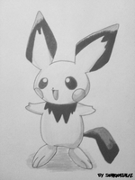 Pichu drawing by Krizeii