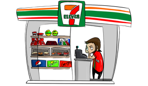 Stuck in 7/11 by OryxPixie
