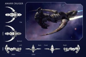 AMARR CRUISER - EVE Online by maciejfrolow
