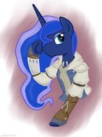 MLP x AC - Princess Luna as Connor Kenway by WaffleMilu