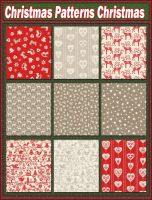 Christmas Patterns Christmas  by Tetelle-passion