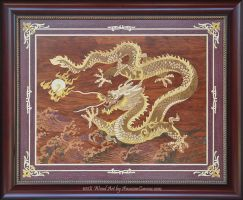 Dragon Fire - Marquetry by amazoncanvas
