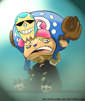 Chopper X Franky Colored by bryanaldrin