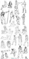 Figure Drawing Sketches 2011-12 by MuseAmused