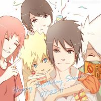 Team 7- Happy Birthday Sasuke by Immature-Child02