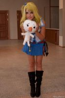Lucy and Plue by AmaneMiss
