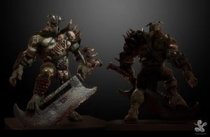 front back orc by saadirfan
