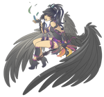 OC Adoptable - Black Bird [SOLD] by Kyatia