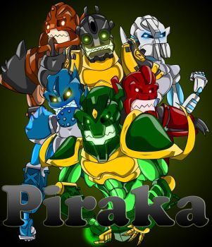 Piraka, Go, Piraka Finished by Krekka01