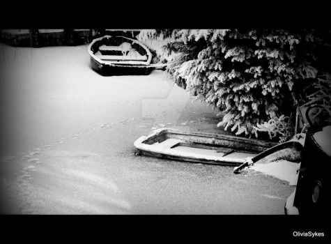Boats in The Snow by standbyme123