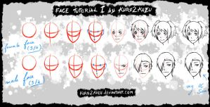 Face Tutorial 1 by Kuro2Kazu