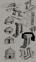 neolithic sketches by yezzzsir