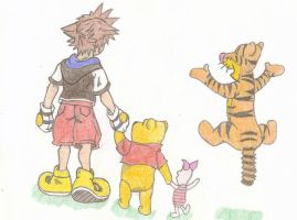 Kingdom Hearts Pooh by Sorasgirl24