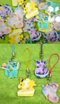 Eeveelution Charms by skullcaps