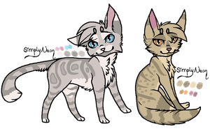 Male and Female Cat Adopts | CLOSED by Bay-fire