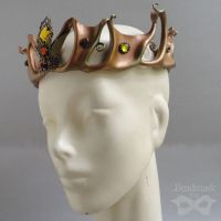 Filigree Leather Crown by Beadmask