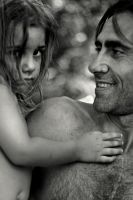 father and girl by elifiko
