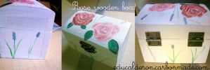Rose Wooden Box by blueryuk