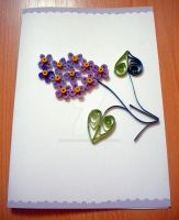 Quilled Lilac Card by YoyoTheMadScientist
