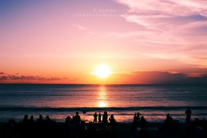 Sunset at Bali's Beach by aymanko0o