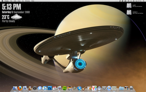 OSX with h-res Star Trek wall by Dannydeman