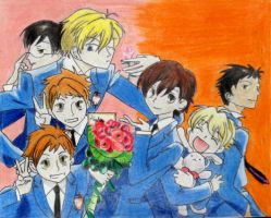 Ouran High School Host Club (OHSHC) by Falcofan100