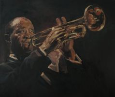 Louis Armstrong by Patahem