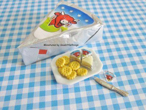 Dollhouse Miniature Laughing Cow Cheese by ilovelittlethings
