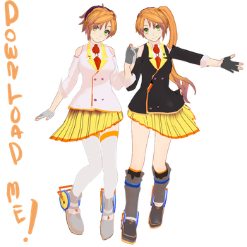 :MMD: Anon and Kanon V3 +Model DL by robieyn