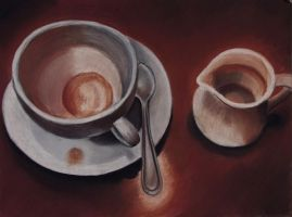 Cup and Saucer by eviebaby723