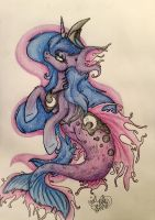Princess Luna Mermaid by Mint0Swirl