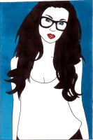 girl with glasses by frecklesmile