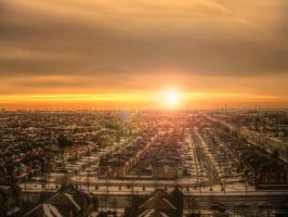 Suburbs Sunset by FreeMindsSanctuary