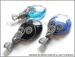 Blue Black trio 2 by KsenyaDesign