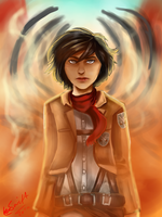 Mikasa by TheHomicidalPigeon
