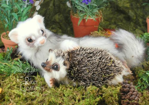 Forest Friendship - Heidi Riker Poseable Creatures by RikerCreatures