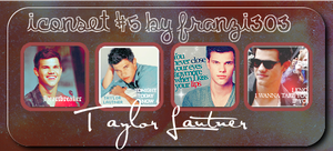 Iconset with Taylor Lautner by franzi303
