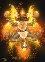 Sulah the Goddess of Fire by metallixfaker