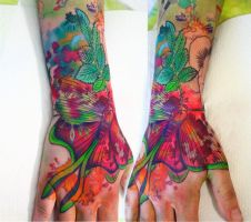 watercolor tattoo by NikaSamarina