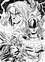 Thor character study inks by Inker-guy