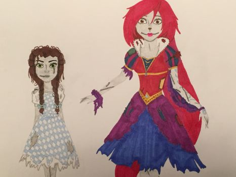 Girls as Zombie Princesses 1 by madiquin185