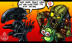ZOMG ALIEN AND PREDATOR by DaKraken