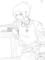 outlines sasuke by jayyaj95