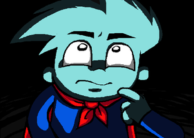 Pajama Sam Is Deep In Thought by PalaceOfChairs