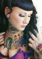 Myriam von M (colored pencil drawing) by LMan-Artwork