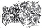 Monsters Vs Battery Acid by illustrated1