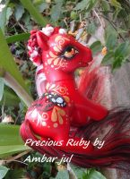 My little pony custom butterfly Precious Ruby by AmbarJulieta