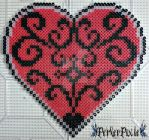 Beautiful Red Heart by PerlerPixie